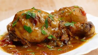 Tasty stewed chicken recipe - cooking easy food recipes for dinner to make at home