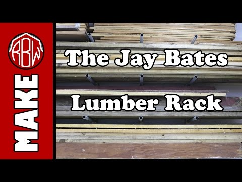 Super cheap and STRONG! The Jay Bates lumber rack.