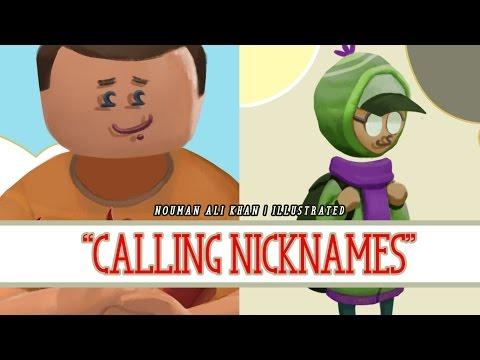 Calling Nicknames   Nouman Ali Khan   illustrated
