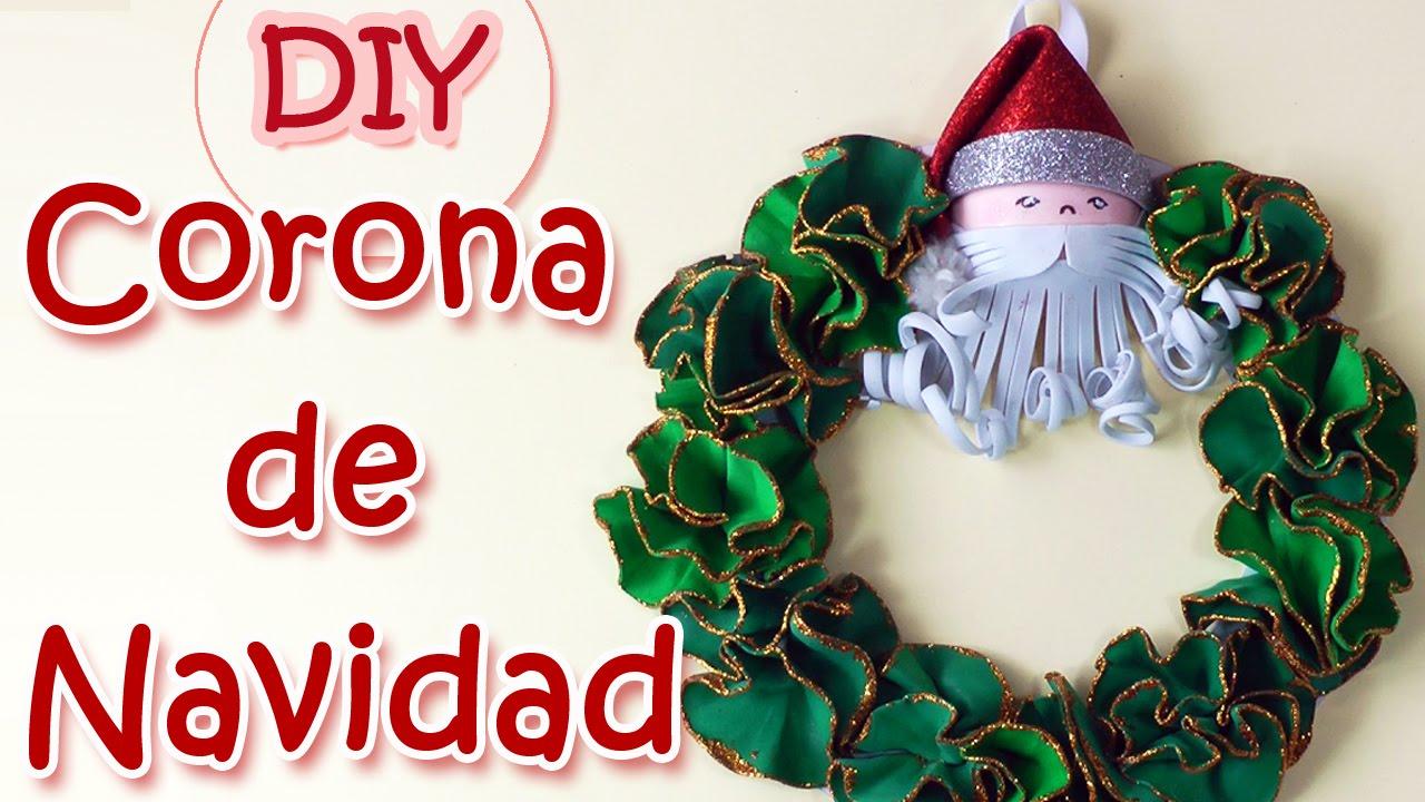 Adornos navide os corona de navidad christmas wreath - Manualidades con fieltro para navidad ...