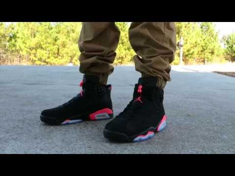 superior quality bf835 dfa18 AIR JORDAN RETRO 6 'BLACK INFRARED' ON FEET!!!