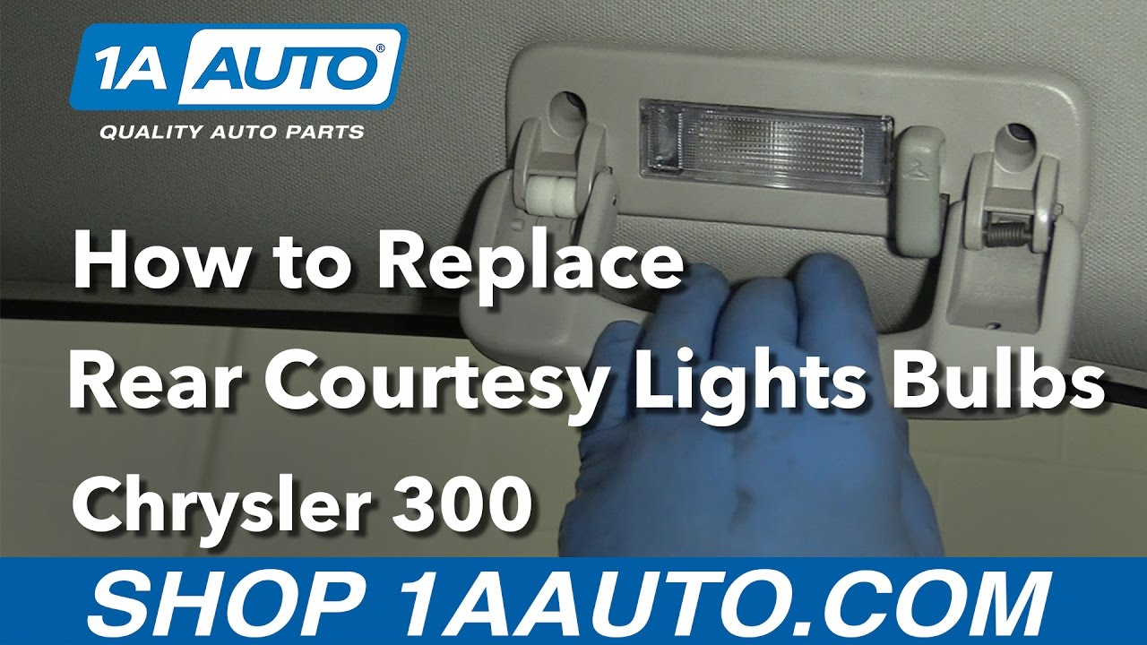 How to Replace Install Rear Courtesy Light Bulbs 2006 ...