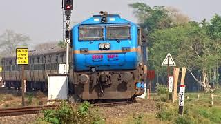 [IRFCA] Baaz livery WDP4 #20018 with Bhalukpong-Dekargaon Passenger departing Balipara thumbnail