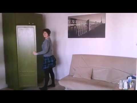 как обновить и покрасить старый шкаф своими руками