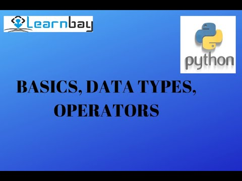 Python - Basics, Data Types, Operators 13012018