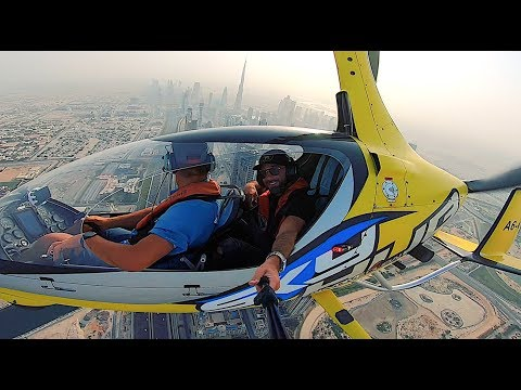 FLYING OVER DUBAI IN THE INCREDIBLE GYROCOPTER!!!
