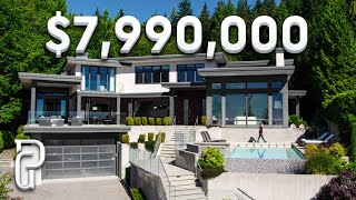 Inside a $7,990,000 Modern House in West Vancouver, Canada | Propertygrams Mansion Tour
