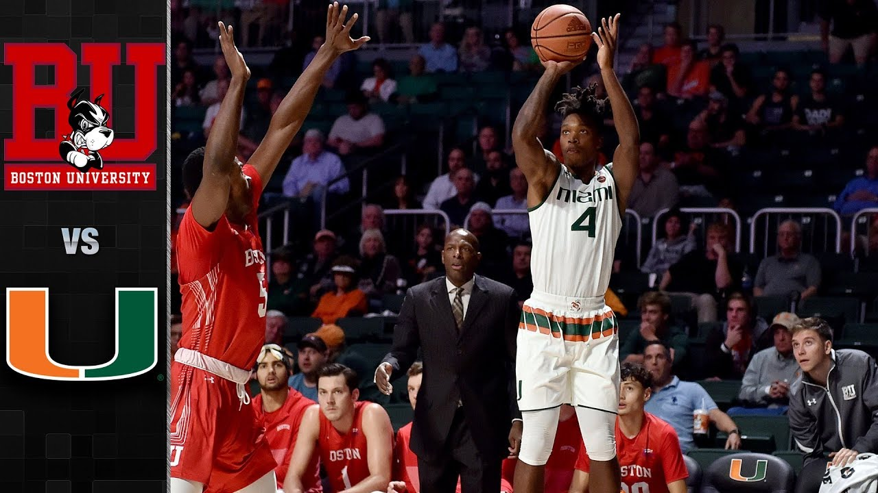 Boston University Vs Miami Basketball Highlights 2017 18 Youtube
