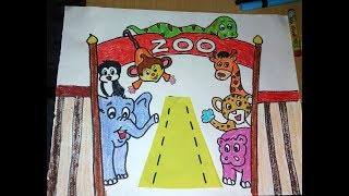 How To Draw Zoo Drawing For kids