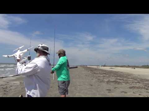 Drone Fishing Texas Galveston Bay