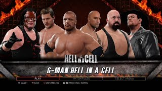 WWE 2K17 PS3 Gameplay - Armageddon Hell in a Cell All Stars and Legends [60FPS][FullHD]
