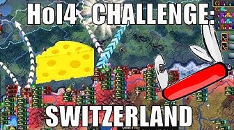 Switzerland destroys everyone with Swiss cheese and Swiss army knives in Hearts of Iron 4