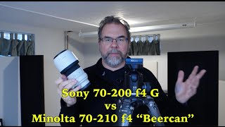 "Photo: Sony 70-200 f4 G vs Minolta 70-210 f4 ""Beercan"" on Sony A7II"