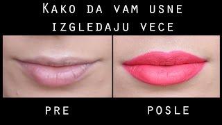 Pravilno iscrtavanje usana i nanosenje tecnih ruzeva