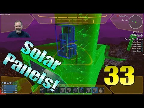 Lift Plays Empyrion S10E33 - Installing Solar Panels and Forcefields