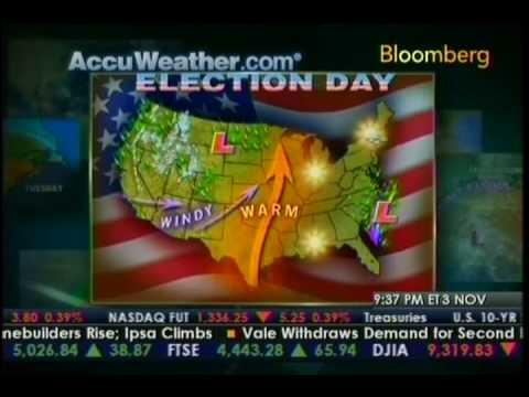 Jason Handman Bloomberg Election Day Weather Forec...