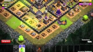 Clash of clans hileli serverde 1.yi yenme çabaları