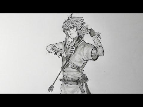 Dessiner Link Tutoriel Zelda Breath Of The Wild Youtube