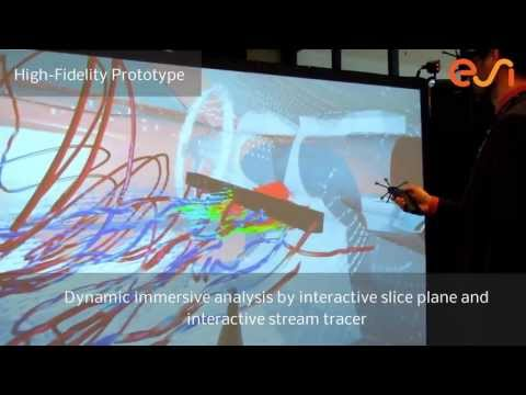 Virtual Reality: CFD simulation results in a 3D environment