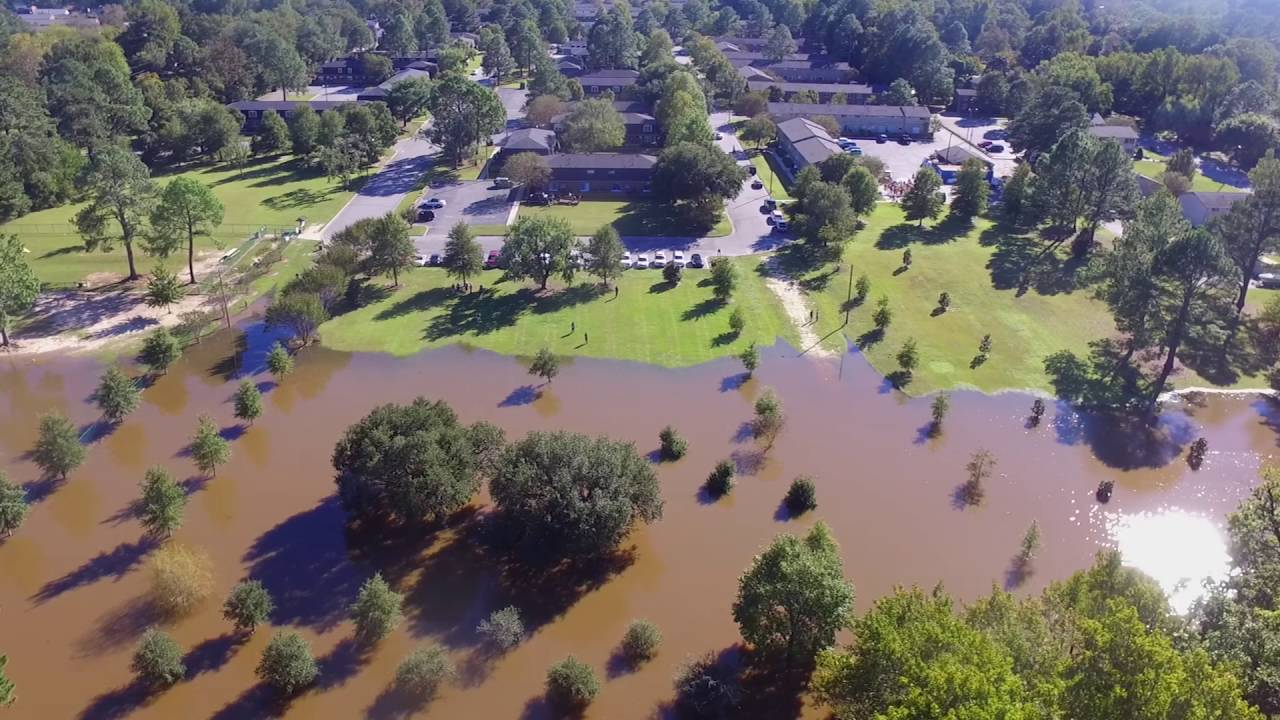 - Tar River Flooding It's Banks In Greenville. NC - YouTube