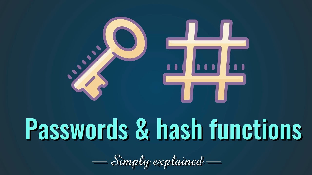 Passwords & hash functions (Simply Explained)
