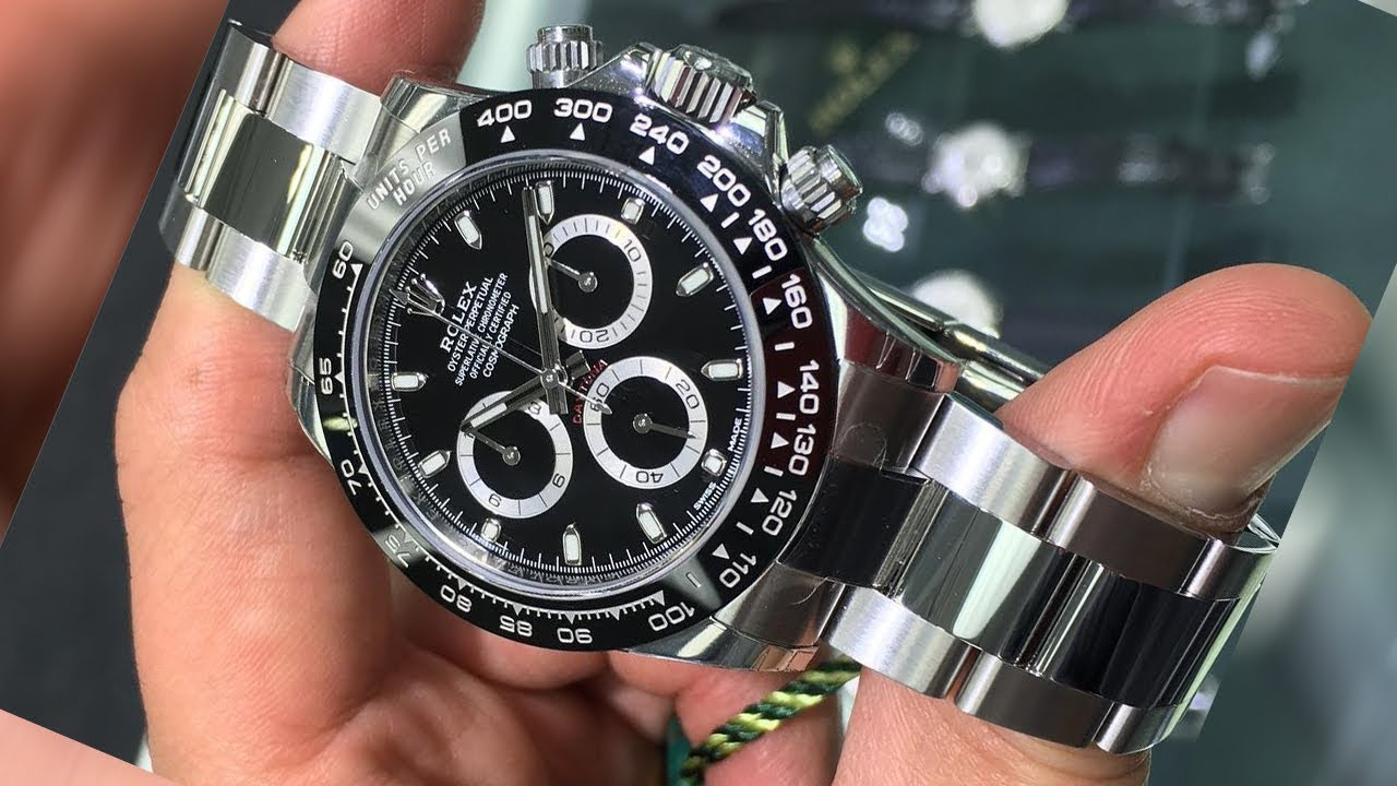 02997a5ee4f1c Brand new Rolex Cosmograph Daytona 116500LN Black dial 40 mm stainless steel  luxury watch Hands On