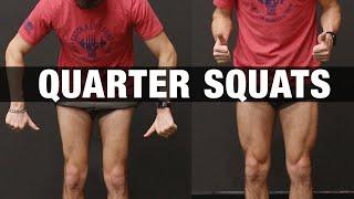 How to Get Bigger Legs Fast (QUARTER SQUATS!)