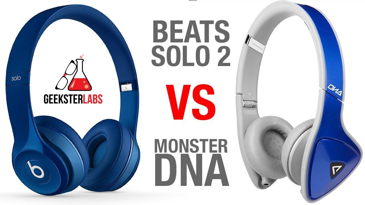 beats by dre solo 2 vs monster dna headphones youtube. Black Bedroom Furniture Sets. Home Design Ideas