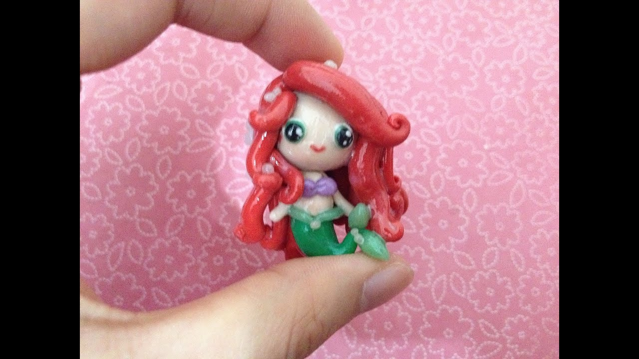 Polymer clay tutorial ariel the little mermaid youtube baditri Images