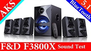 F and D F3800X 5.1 Home Theatre UnBoxing sound test by AKS