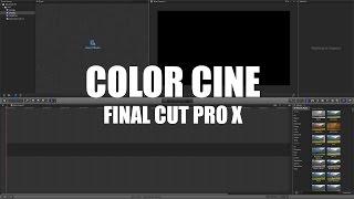 Efecto cinematográfico   FINAL CUT PRO X  Aspecto película (Tutorial)