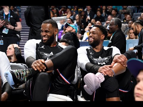 LeBron James And Dwyane Wade Throw Lobs To Each Other In 2019 All-Star Game | All-Star Weekend