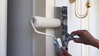 видео Покраска потолка водоэмульсионной краской: цена за м2, подготовка и сколько стоит