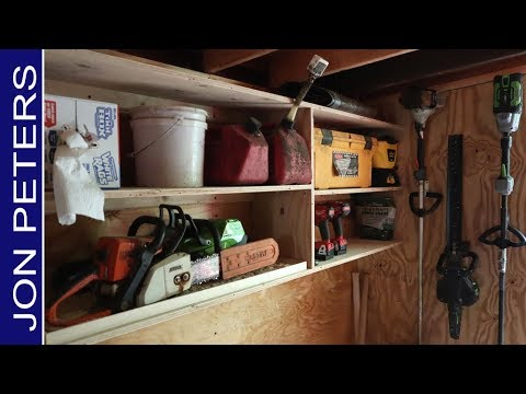 Building a Tool Shed Storage Cabinet