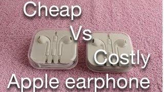 Cheap Vs Costly Apple earphones