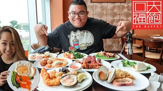 ALL YOU CAN EAT BUFFET FOOD CHALLENGE & PLATE PAINTER