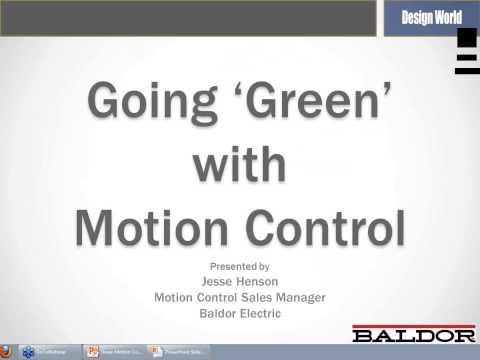 Energy Savings & Green Considerations in Motion Control (Webinar)