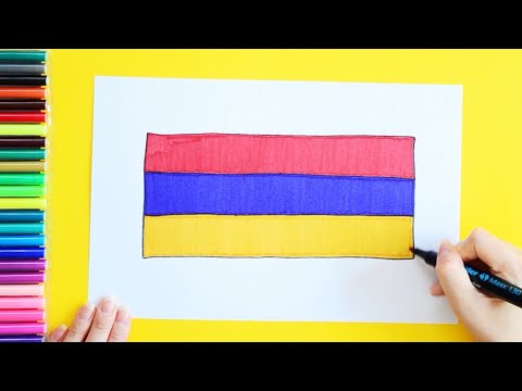 How To Draw The National Flag Of Armenia