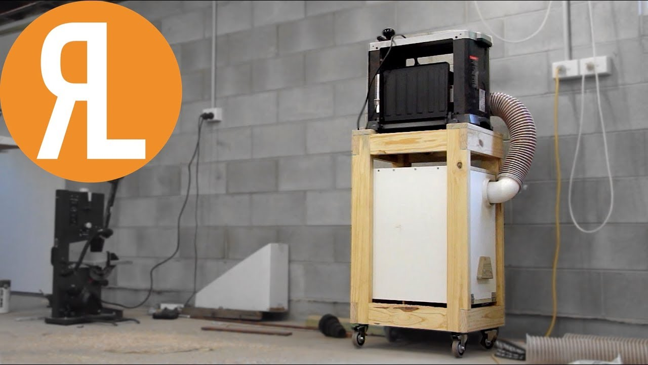 Diy Mobile Planer Cart With Built In Dust Collection Youtube