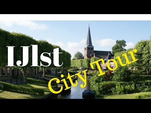 IJlst (Drylts), Friesland (Fryslan), The Netherlands.. City Tour (Cycling) GoPro