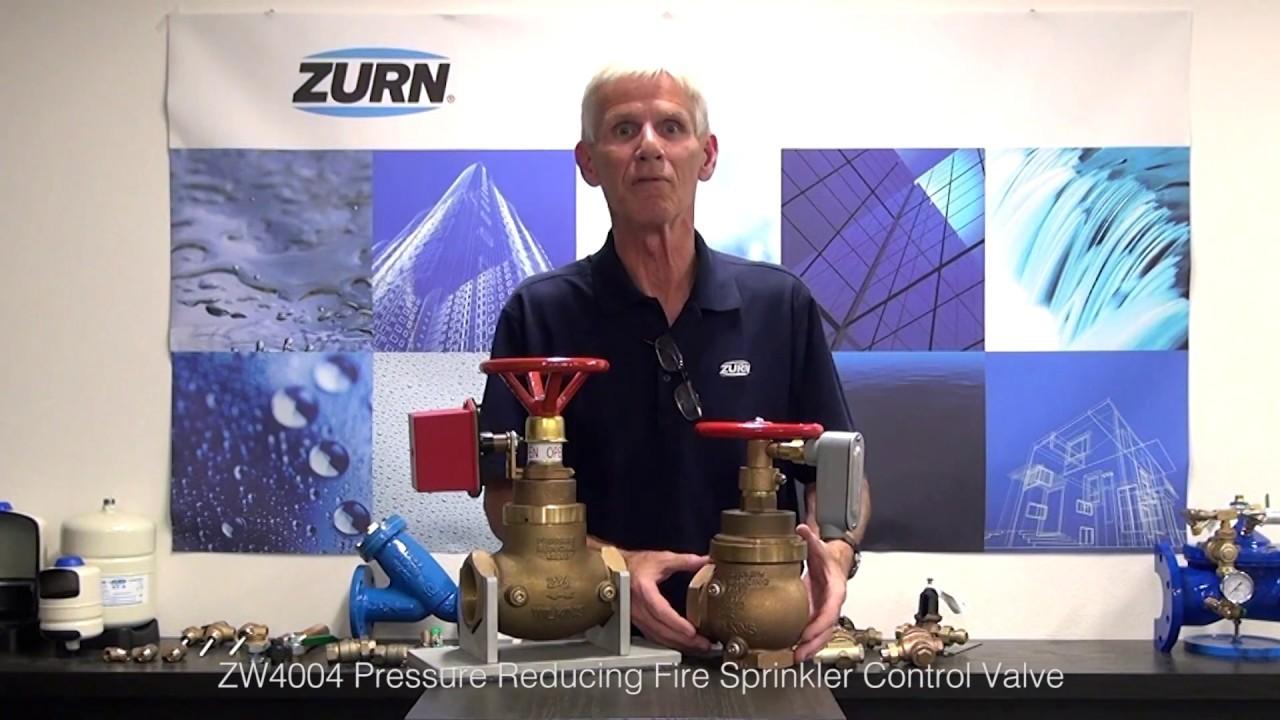 Zurn Wilkins Pressure Reducing Valves ZW4004 Fire Sprinkler Control Valve