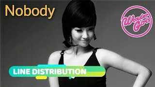 WONDER GIRLS - NOBODY (Line Distribution)