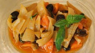 Завтрак на 7 с «KADORR Restaurant». Кальмары в томатном соусе с маслинами и каперсами