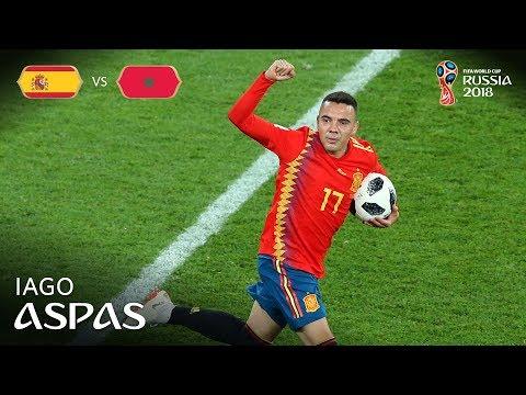 Iago ASPAS Goal - Spain v Morocco - MATCH 36