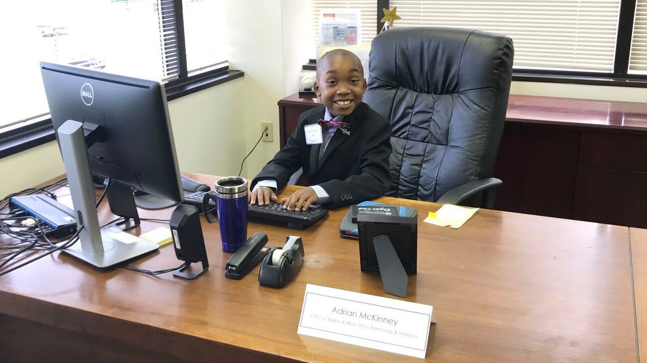 88a58ad1b0b7 Nine-Year-Old Boy with Sickle Cell Anemia Became Make-A-Wish CEO for a Day