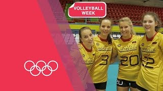 Volleyball Serving Challenge with Germany Women's Team | Volleyball Week