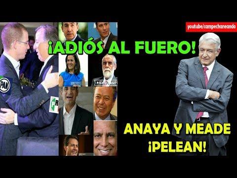 ¡Tiemblan Politicos! Quitan el Fuero, y Ricardo Anaya y Meade ¡Pelean! - Campechaneando