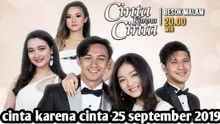 Gambar cover Cinta Karena Cinta 25 September 2019