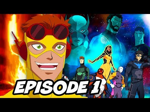 Young Justice Season 3 Episode 1 Wally West Scene and The Flash Easter Eggs