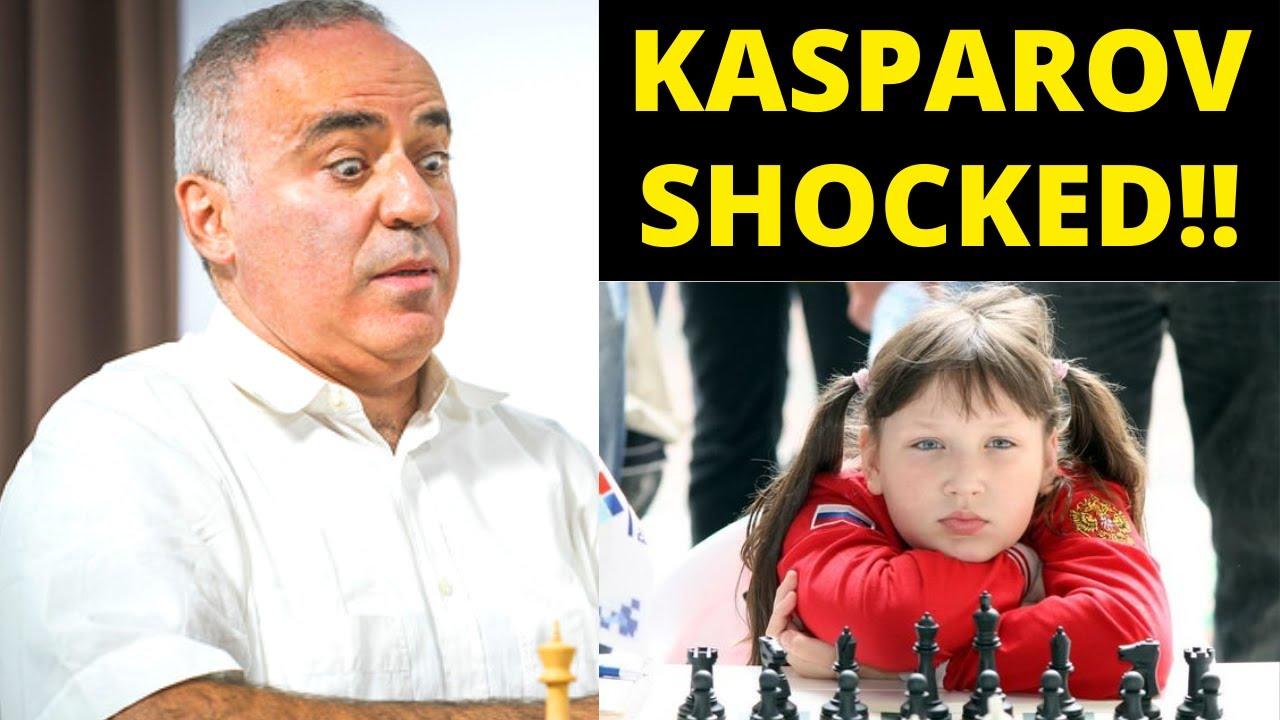 9 Year Old's Defense Technique Is Scary! Kasparov vs Goltseva